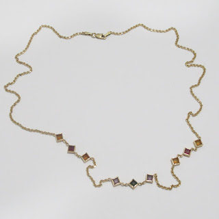 14K Gold & Multi-Color Accent Necklace