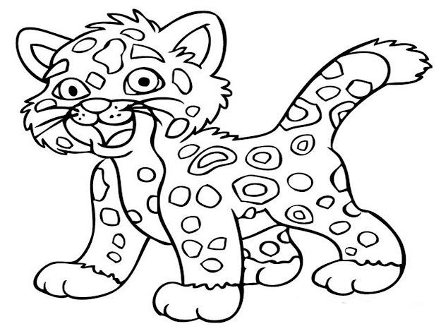 Jaguar Animal Coloring Pages