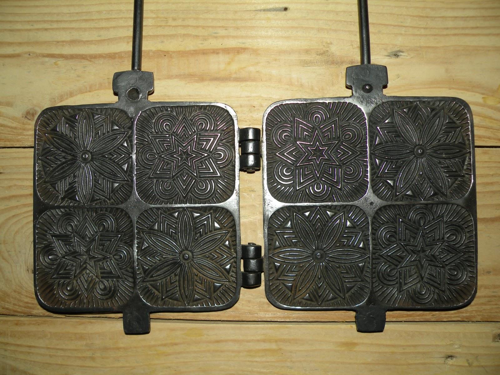 objets anciens et insolites gaufrier gaufrette de la fonderie j f mod le 1158. Black Bedroom Furniture Sets. Home Design Ideas