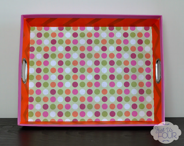 upcycled paper tray interior