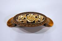 裝潢五金 品名:Z769-復古玫瑰取手 規格:64m/m 顏色:古銅+古銀色 玖品五金