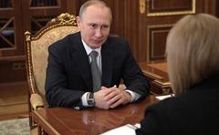 Ella Pamfilova meet the President of Russia.