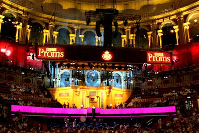 Interior of Royal Albert Hall in London during the Proms