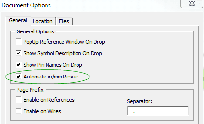 Turn off automatic resizing in Document Options.