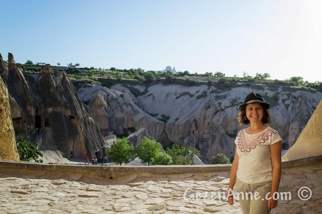 Kapadokya'daki Göreme açıkhava müzesinde, kiliseler ve güvercinlik
