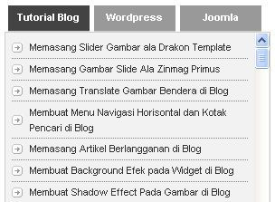 Membuat Tab View Menu Tanpa Edit HTML di Blogspot
