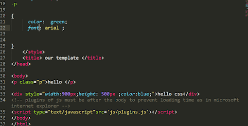 شكل كود CSS