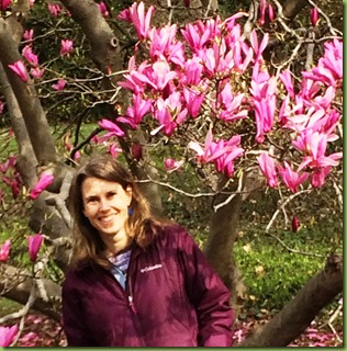 Kristi with Magnolia tree st. Louis
