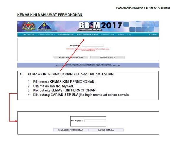 KEMASKINI DAN PERMOHONAN BR1M 2017 2