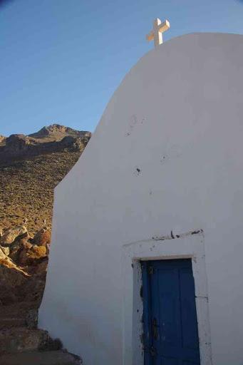 L'église de Timios Stavros (Σταυρός) (Τίμιος Σταυρός) (Τιμιος Σταυρος) entre Loutro (Λουτρό) et Sfakia (Σφακιά).