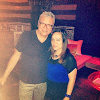 Greg Stikeleather and I at Acabar for Sara Mayhew's birthday Wed night. (7/16/14)