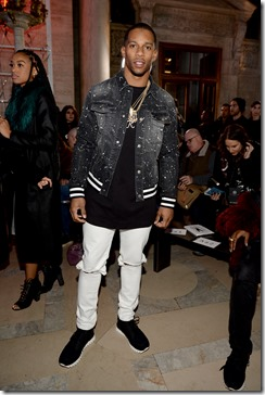 NEW YORK, NY - FEBRUARY 13:  Victor Cruz attends the Front Row for the Philipp Plein Fall/Winter 2017/2018 Women's And Men's Fashion Show at The New York Public Library on February 13, 2017 in New York City.  (Photo by Andrew Toth/Getty Images for Philip Plein)