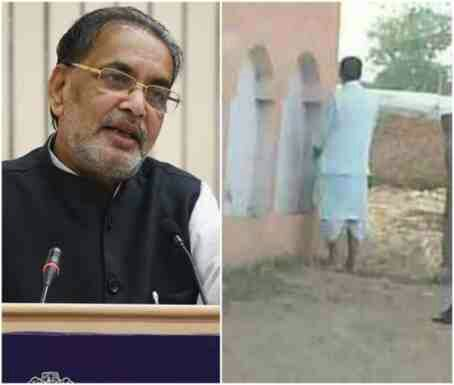 Indian Agriculture minister caught urinating in public (Photo)