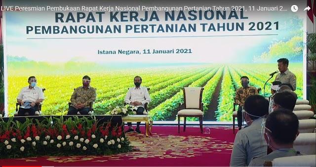 Rakernas Pembangunan Pertanian: Sektor Pertanian Tumbuh di Tahun 2020