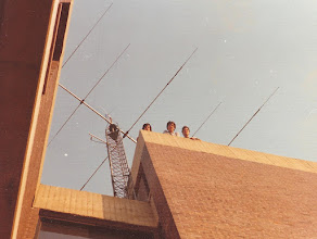 Photo: WA2NLP, W2PA and K1OD at the WA2NPP tower - 1977