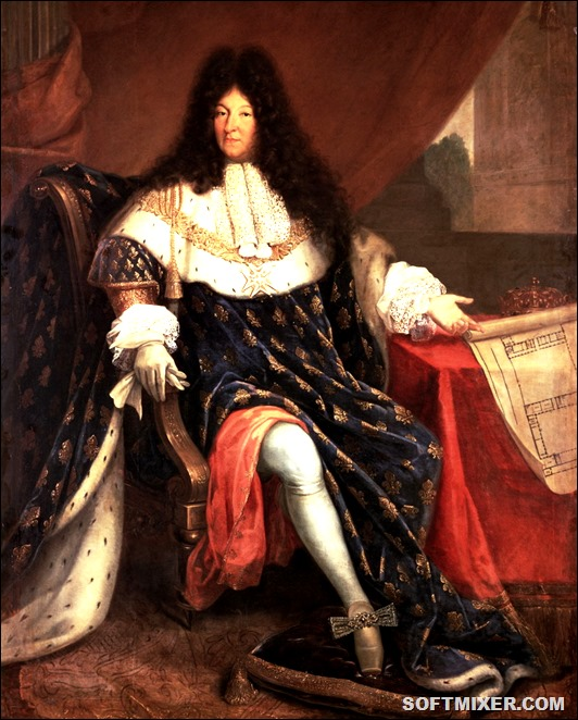 French_painting_Louis_XIV_With_Plans_for_Versailles_Kings_Full_length_portraits_Fine_art_Visual_arts_Curly_b