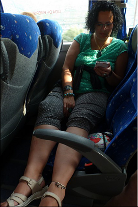 … de nuevo en el autobús