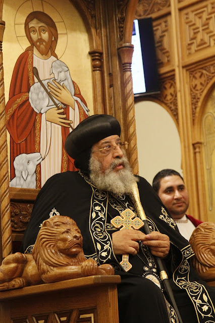 His Holiness Pope Tawadros II visit to St. Mark LA - _MG_0568.JPG