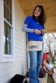 Olivia pretty much built that porch herself :)