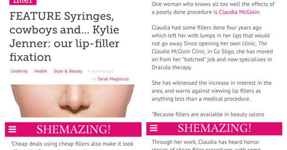 Claudia McGloin Clinic: Interview for Shemazing on Lip Fillers