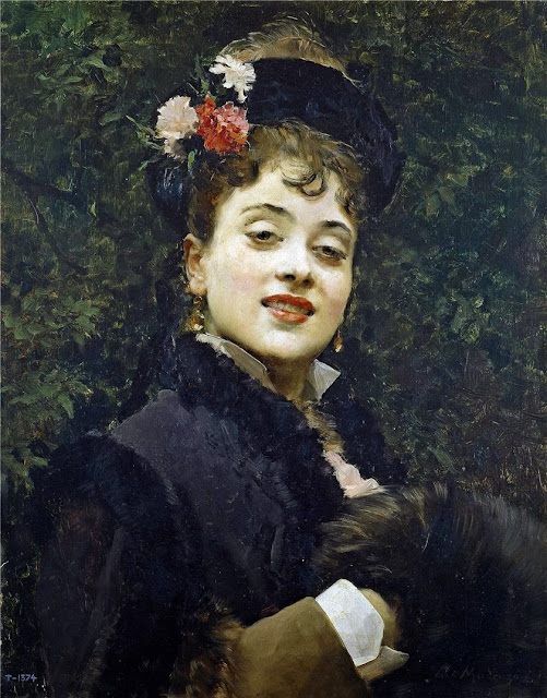 Raimundo Madrazo - Aline Masson, the Artist's Wife