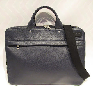 Jack Spade Blue Leather Attache