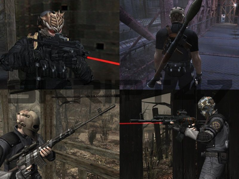 RE4 Weapons Point Blank, SVD Viper, MP7, RPG-7, AK Sopmod