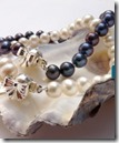 Pearl Bow Bracelet - white or black pearls - by Joy Everley