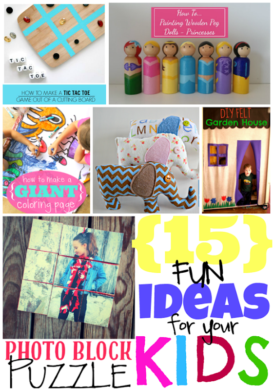 15 Fun Ideas for Your Kids at GingerSnapCrafts.com #kids #kidactivities