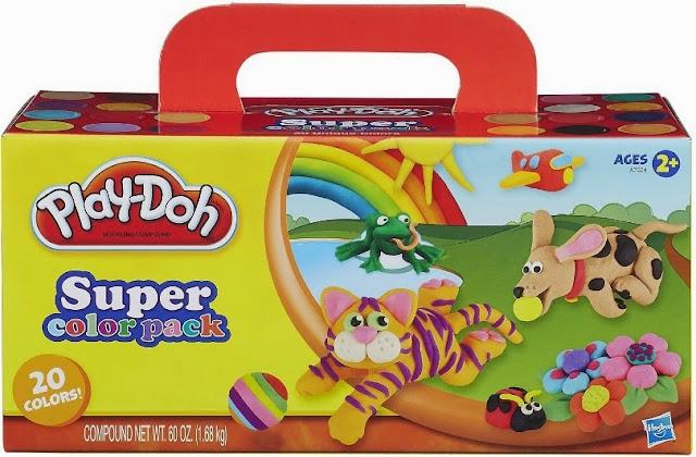 Bột nặn Play-Doh 20 màu Super Color Pack có màu sắc tươi sáng, sinh động