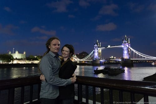 Laurence and Jessica in front of tower bridge london