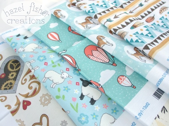 2015 May 27 Spoonflower swatches new fabric designs hazelfishercreations 1