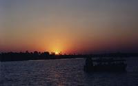 Puesta de sol sobre el río Zambeze