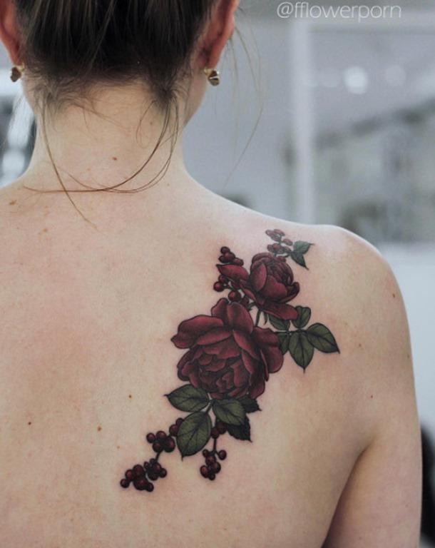 Estes belo borgonha rosas
