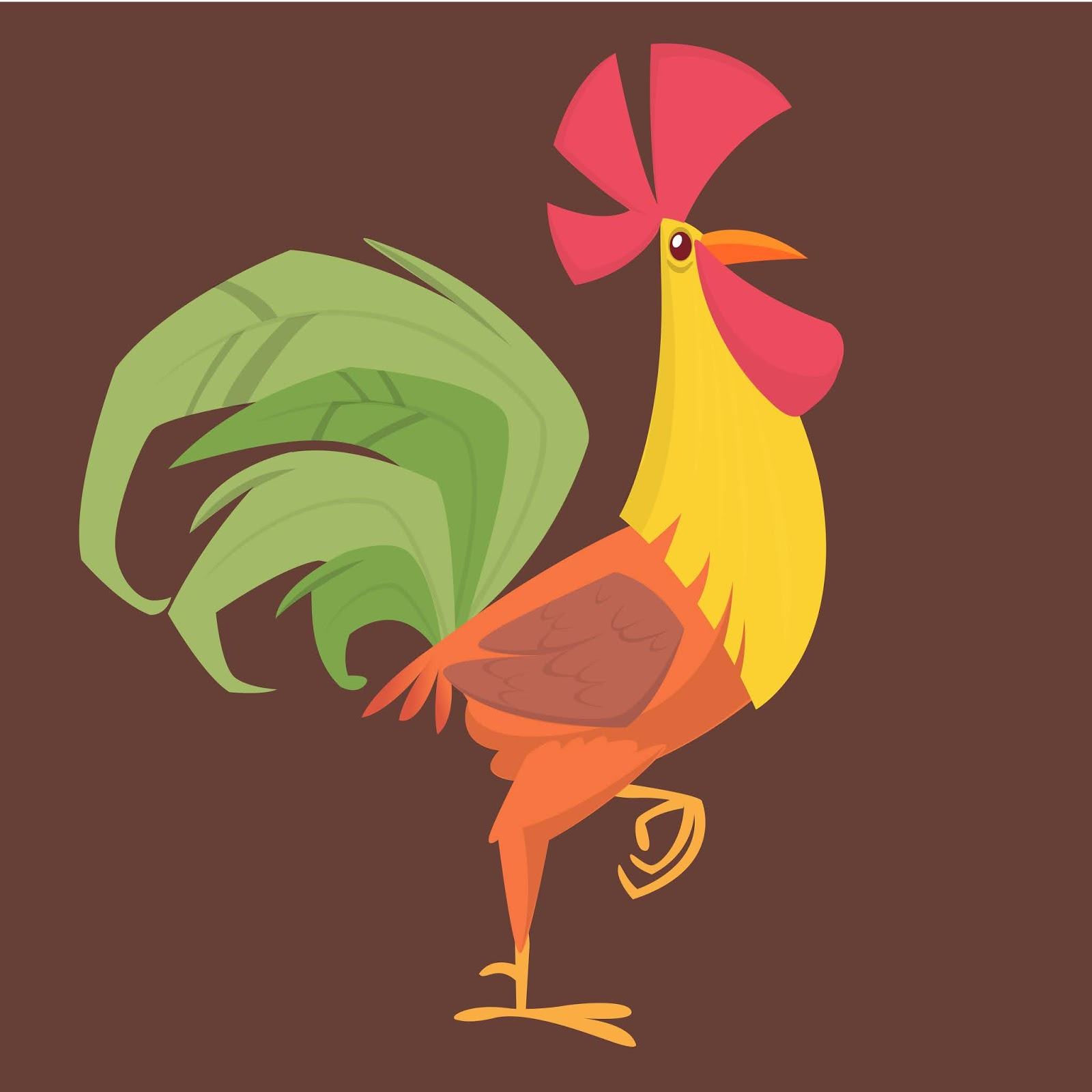 Cartoon Rooster Free Download Vector CDR, AI, EPS and PNG Formats