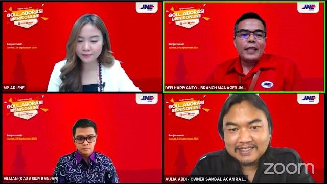 Hadirkan Goll Aborasi Bisnis Online, JNE Dukung UKM Banjarmasin Menangkan Pasar Digital