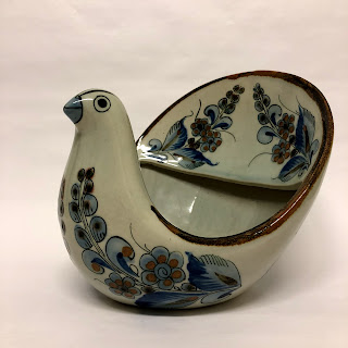 Ceramic  Mexican Avian Bowl