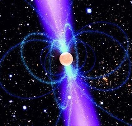 ilustração de um pulsar