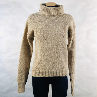 Calvin Klein Collection Marled Wool Turtleneck Sweater