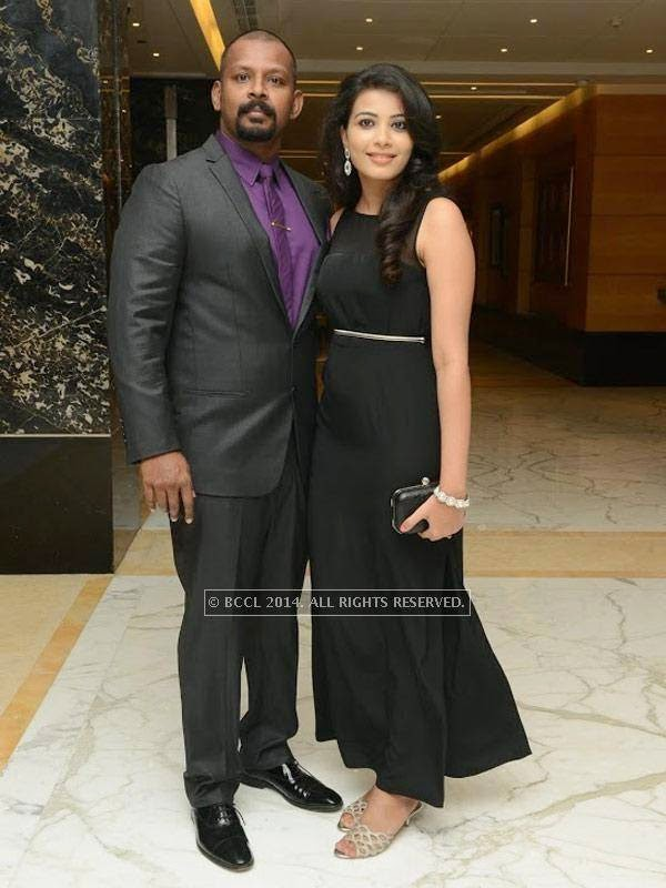 Sam and Kavya Shetty at Sam Paul success party at Taj Clubhouse in Chennai.
