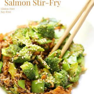 Korean BBQ Salmon Stir-Fry