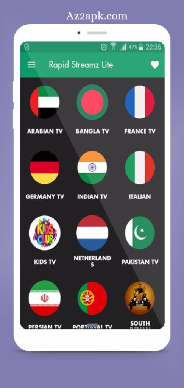 Rapid Streamz Live TV Original Apk Apk Az2apk  A2z Android apps and Games For Free