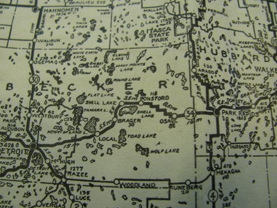 Stair step road 1924 1925 Road map