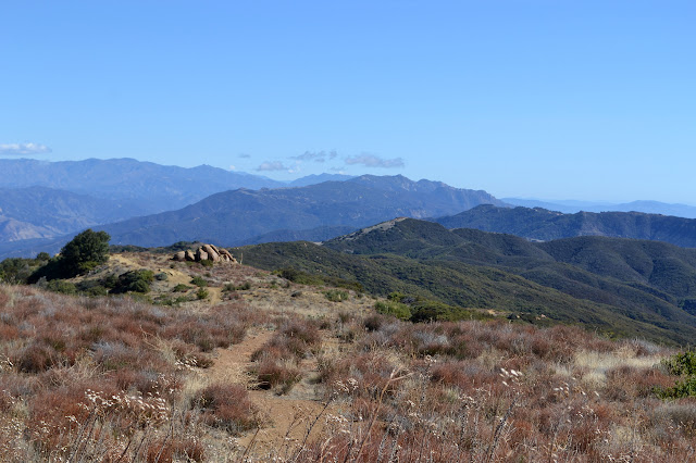 Santa Ynez Mountains east of the trail top