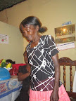 The unforgettable visit to Edeline's family in Haiti. Here, Edeline's mother.