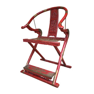 Chinese Horseshoe Back Campaign Chair