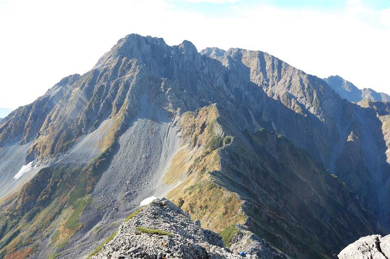 南岳山荘下ったところから大キレットを見る