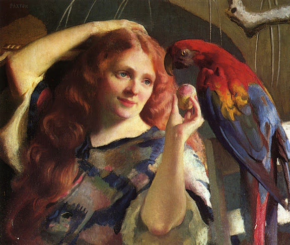 William McGregor Paxton - Reddy and the Macaw