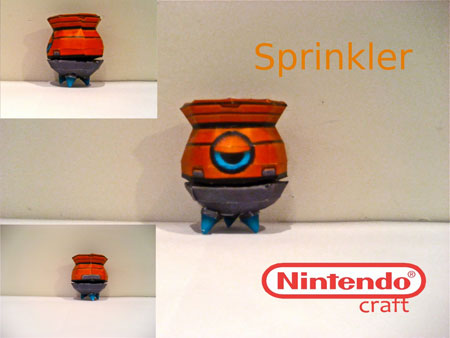 Sonic Colors Papercraft Sprinkler