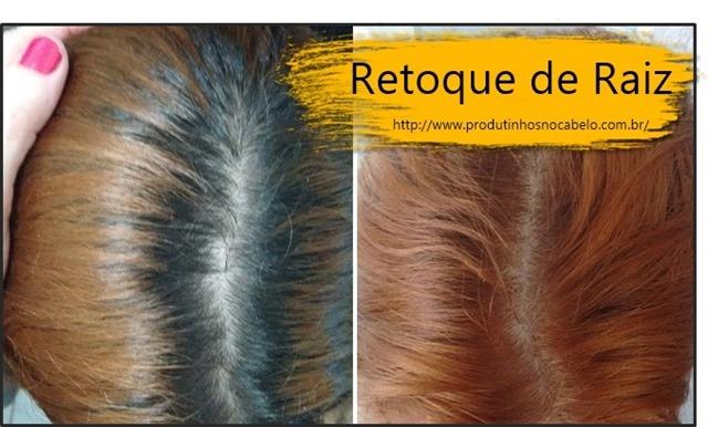 retoque de cabelo ruivo